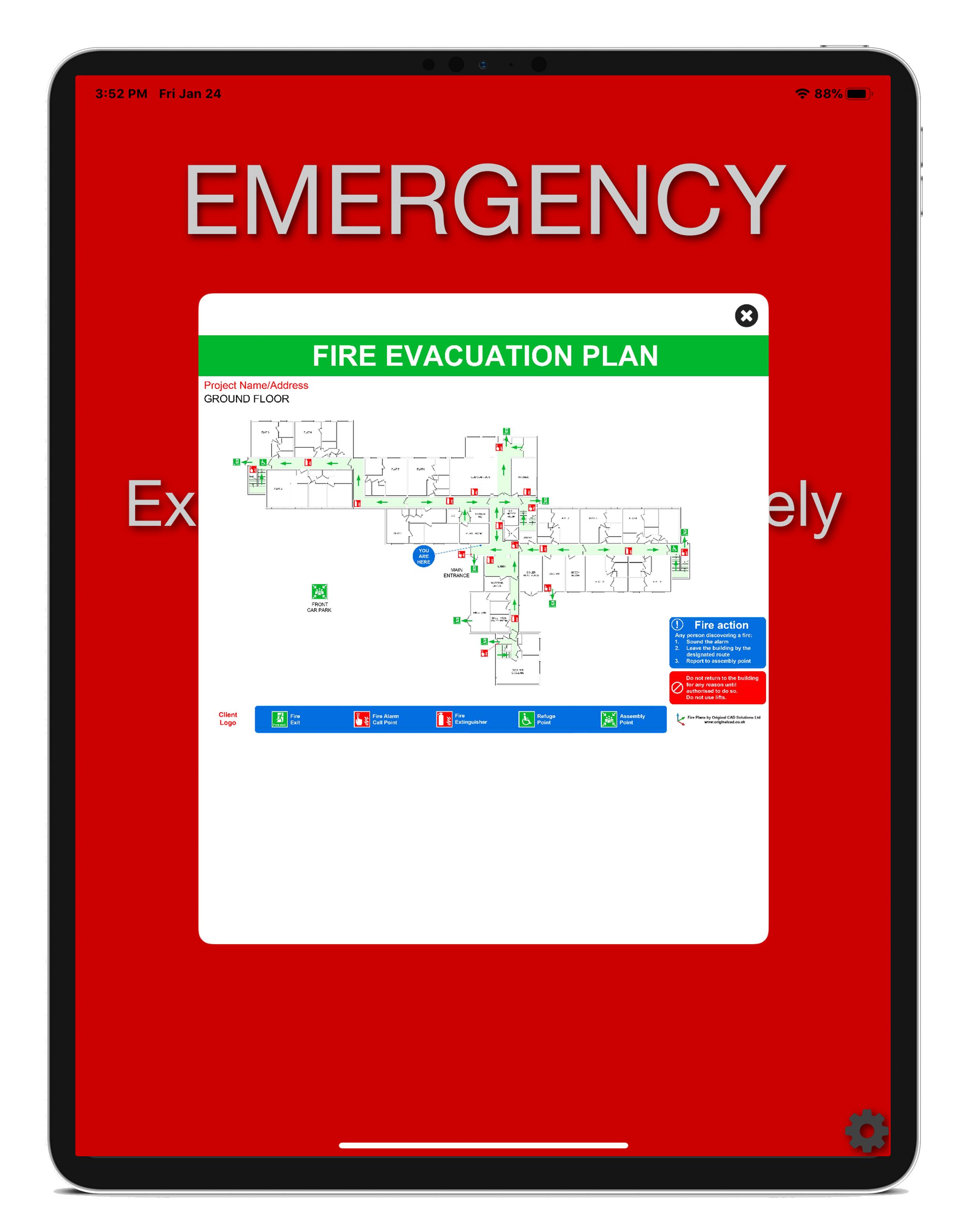 reception bot emergency mode