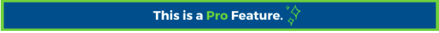 Banner: Pro feature