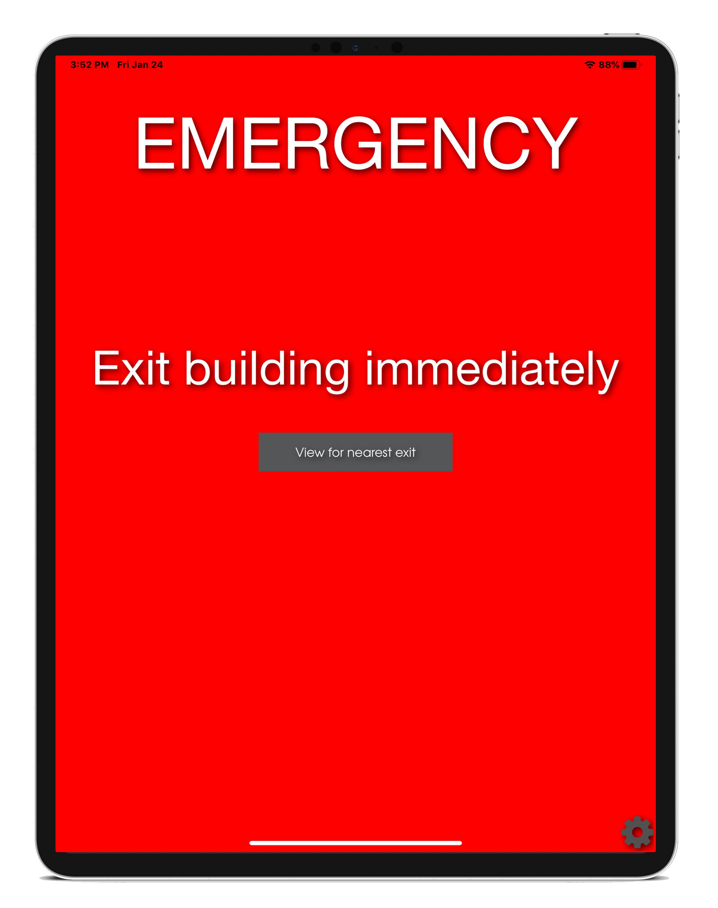 ipad check-in kiosk emergency mode