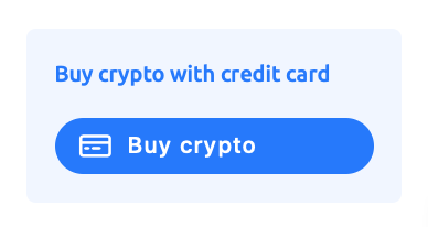 screenshot showing the buy crypto with credit card button