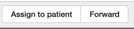 Dentally Inbox assign to patient