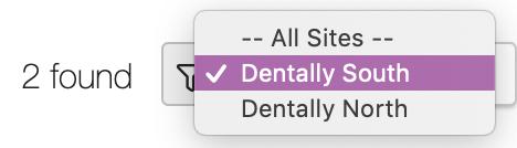 Dentally Inbox select site