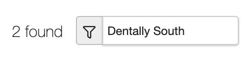Dentally Inbox Multi-site selection