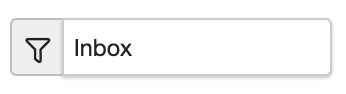 Dentally Inbox Filter button