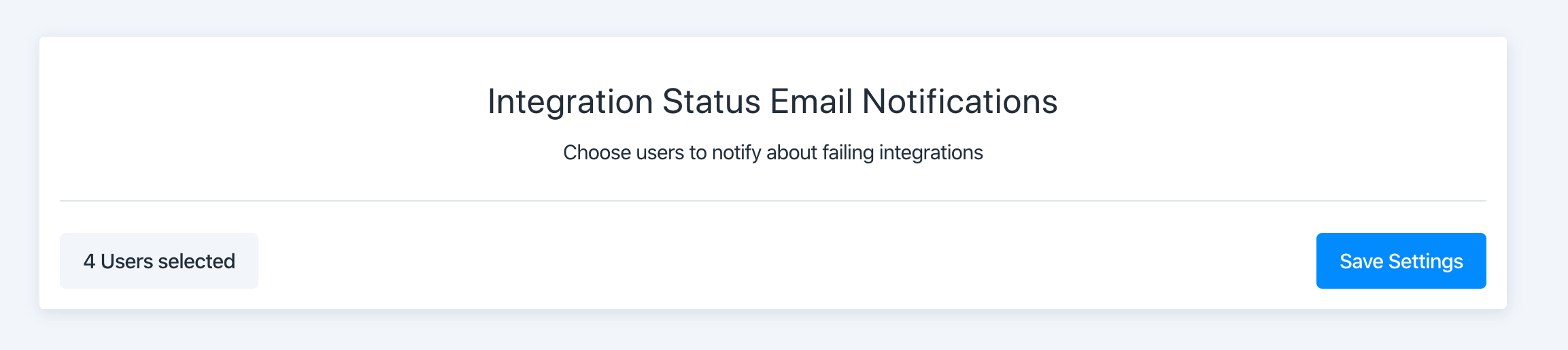 integration status email notifications