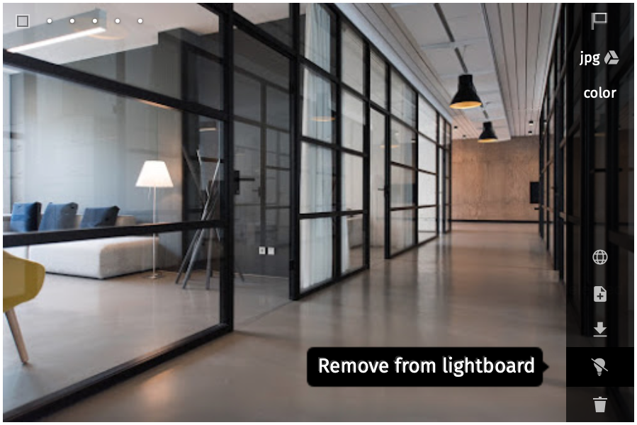 Remove from lightboard