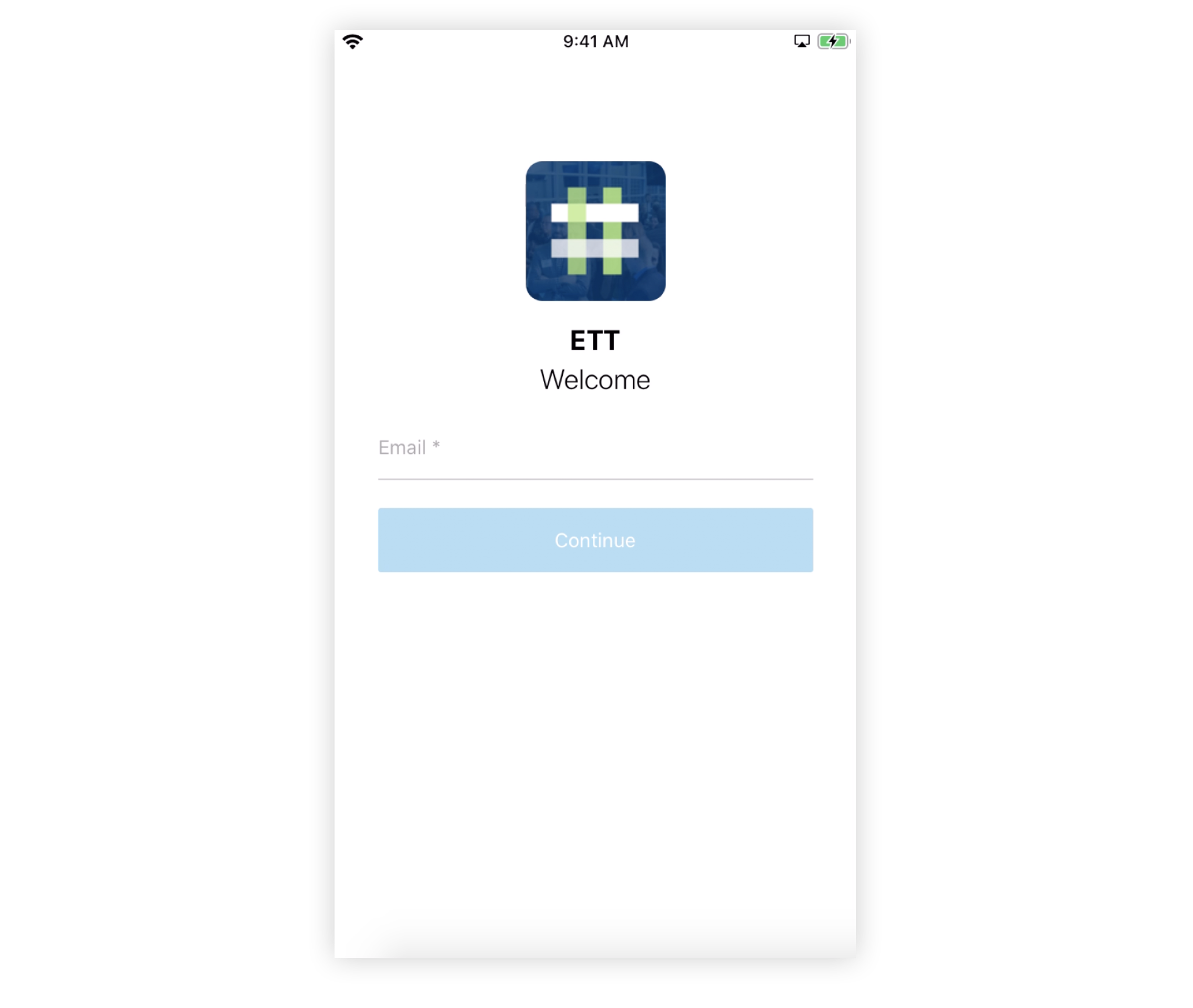 Screenshot of a Branded App login page with Email Only displayed.