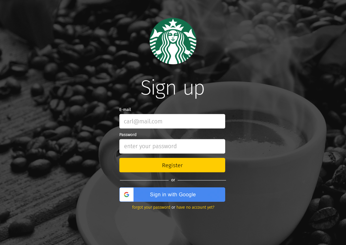 Branded signup for your teammates