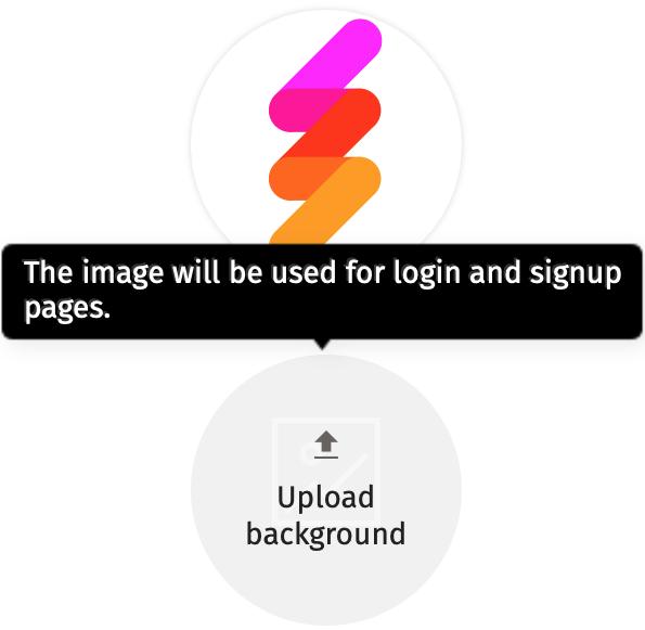 Upload background image & company logo