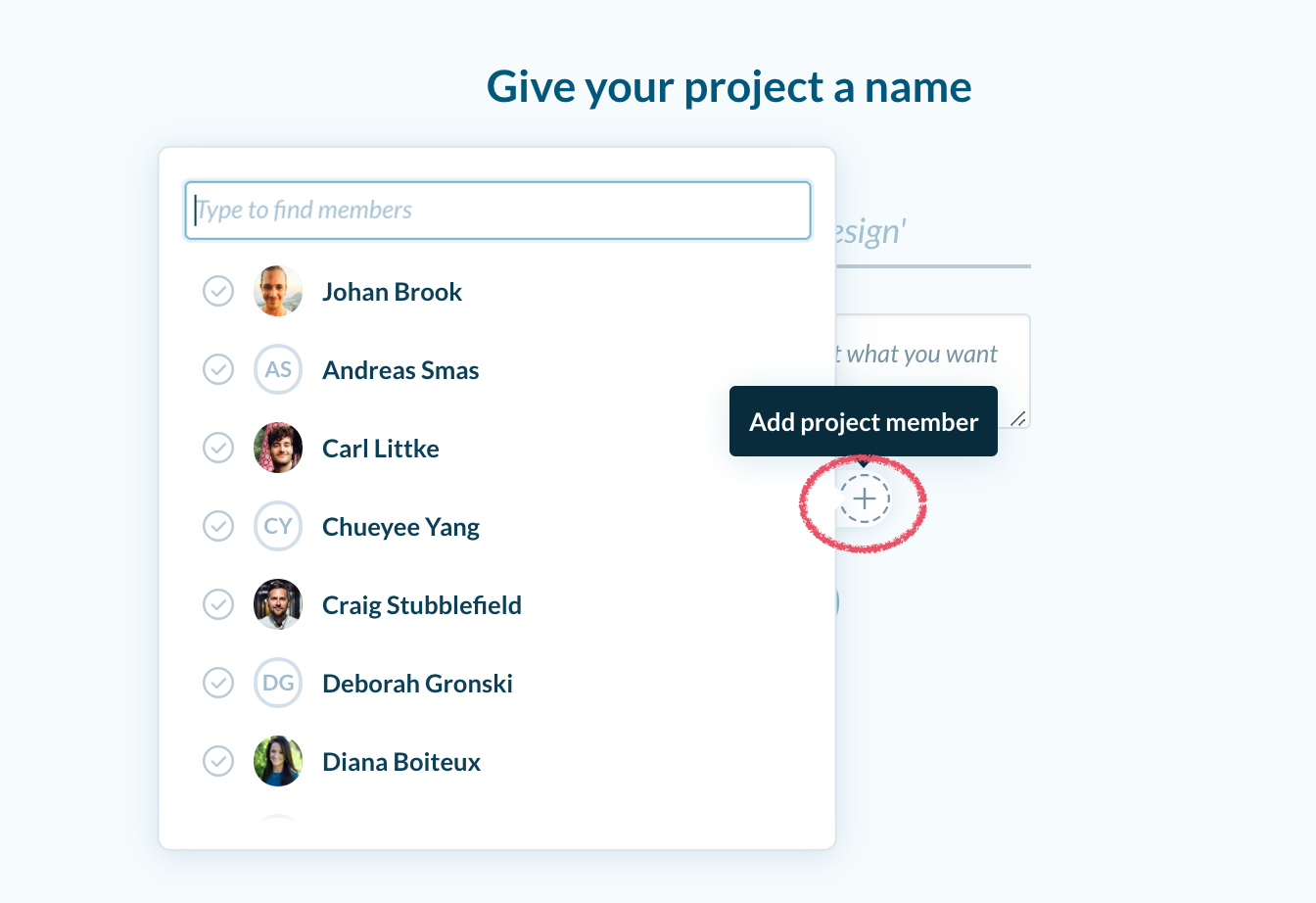 Add Project Member to Private Project
