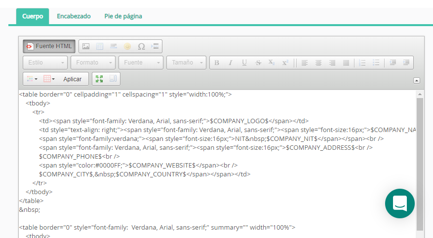 Vista de HTML