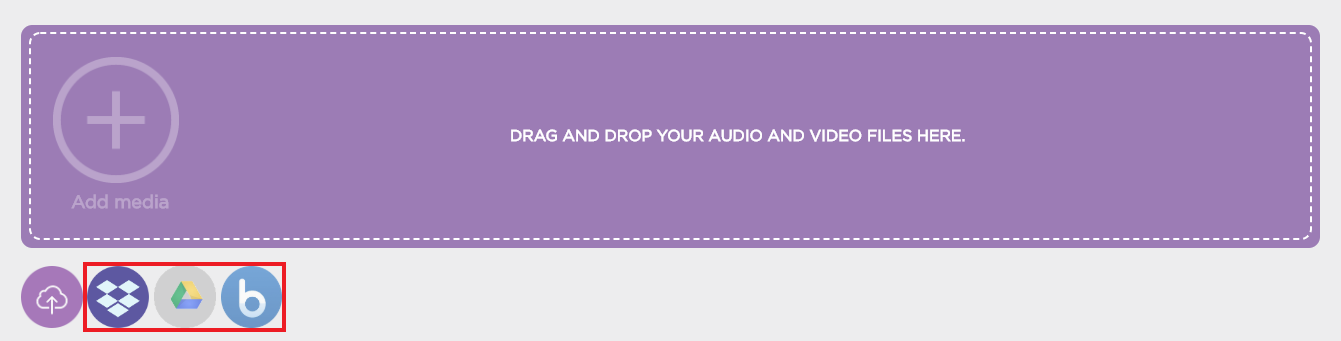 Cloud drive upload buttons