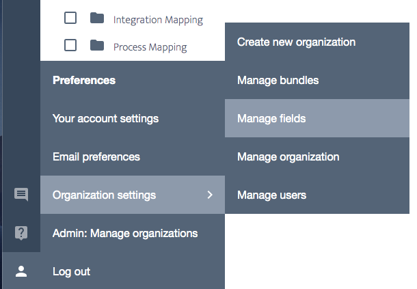 Ardoq organization settings