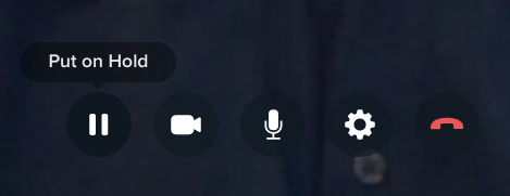 Put on Hold button