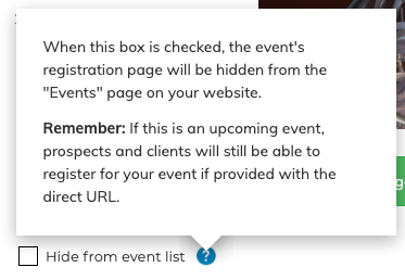 Hide Event List
