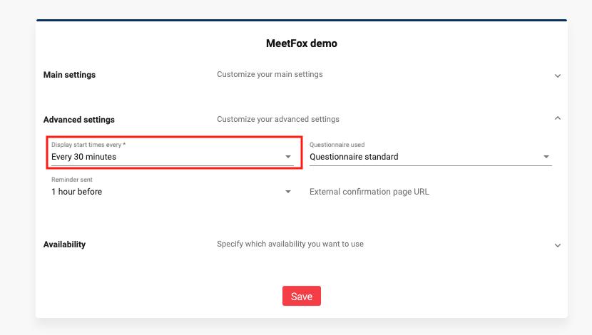 Add intervals to MeetFox