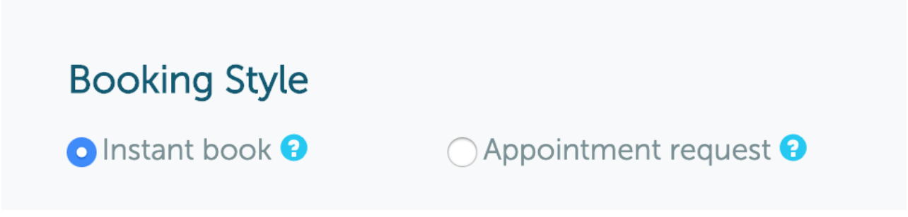 Booking Style options