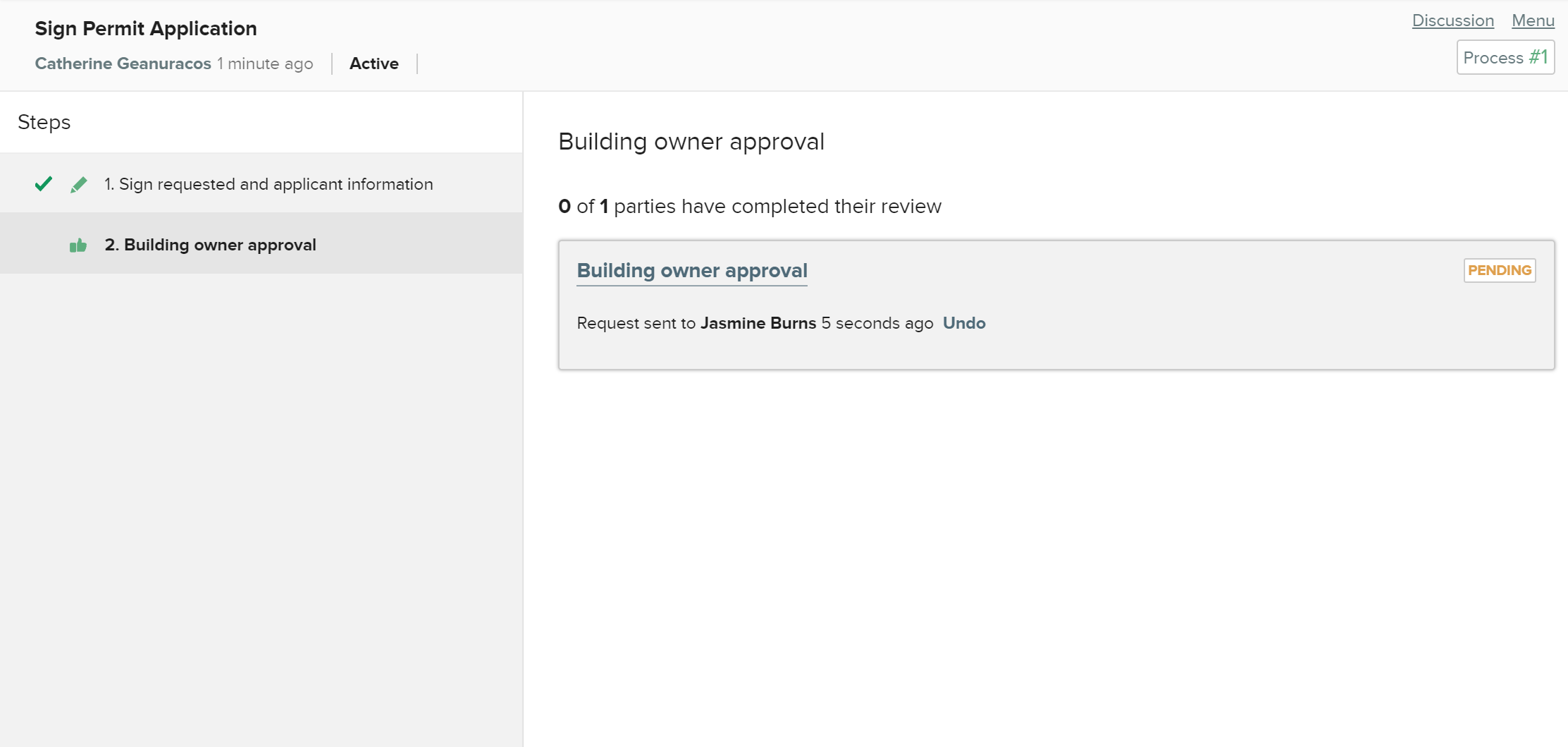 CityGrows pending review applicant screen