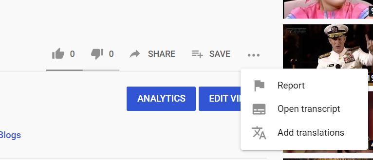 Select Add Translations