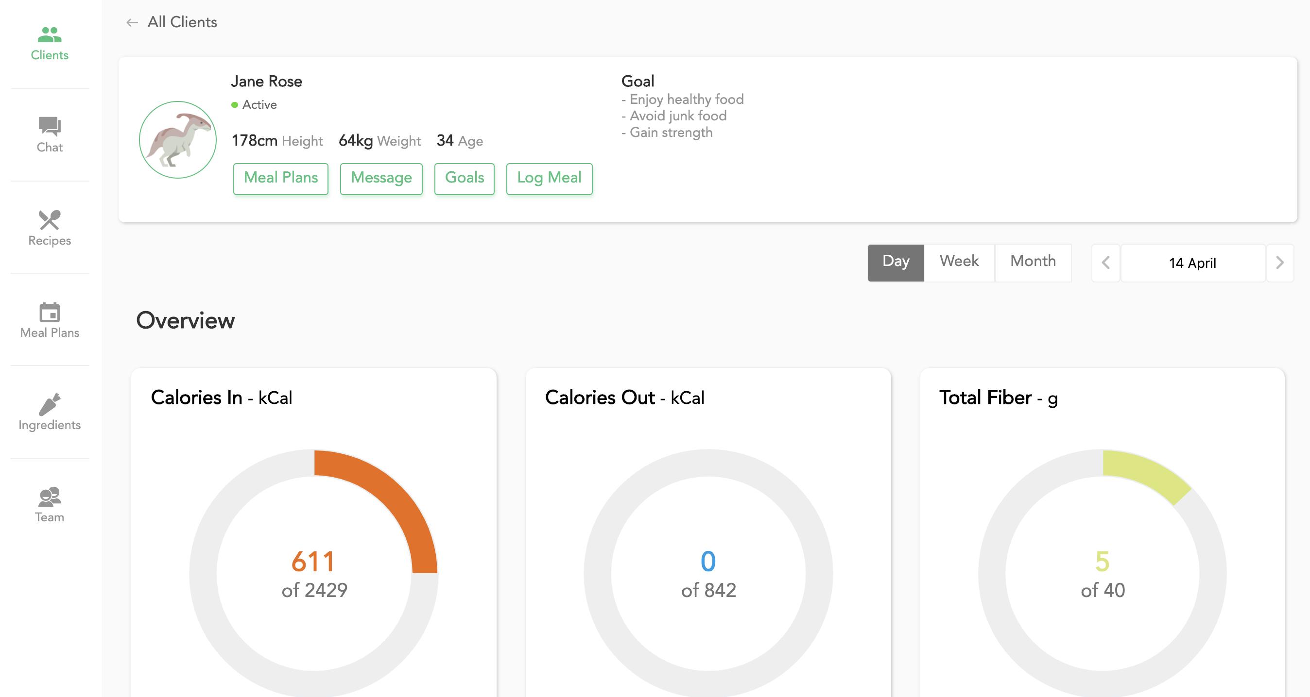 client overview feature