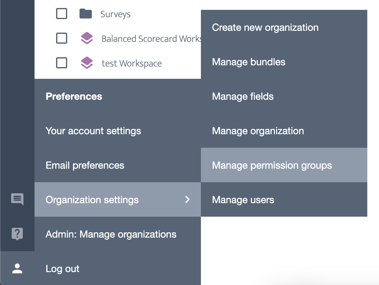 Ardoq manage permission groups