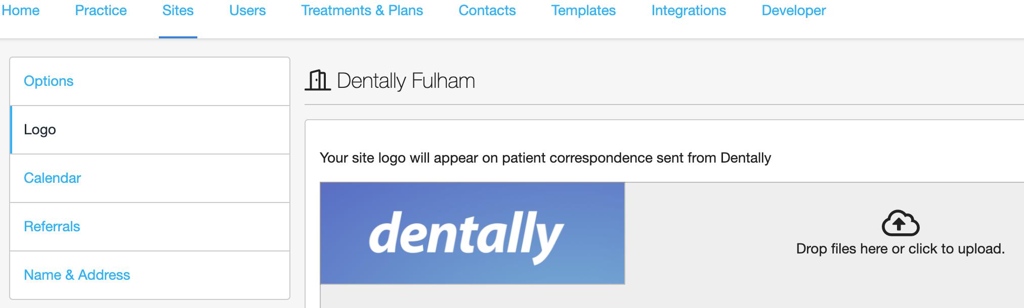 Dentally Site Details Logo