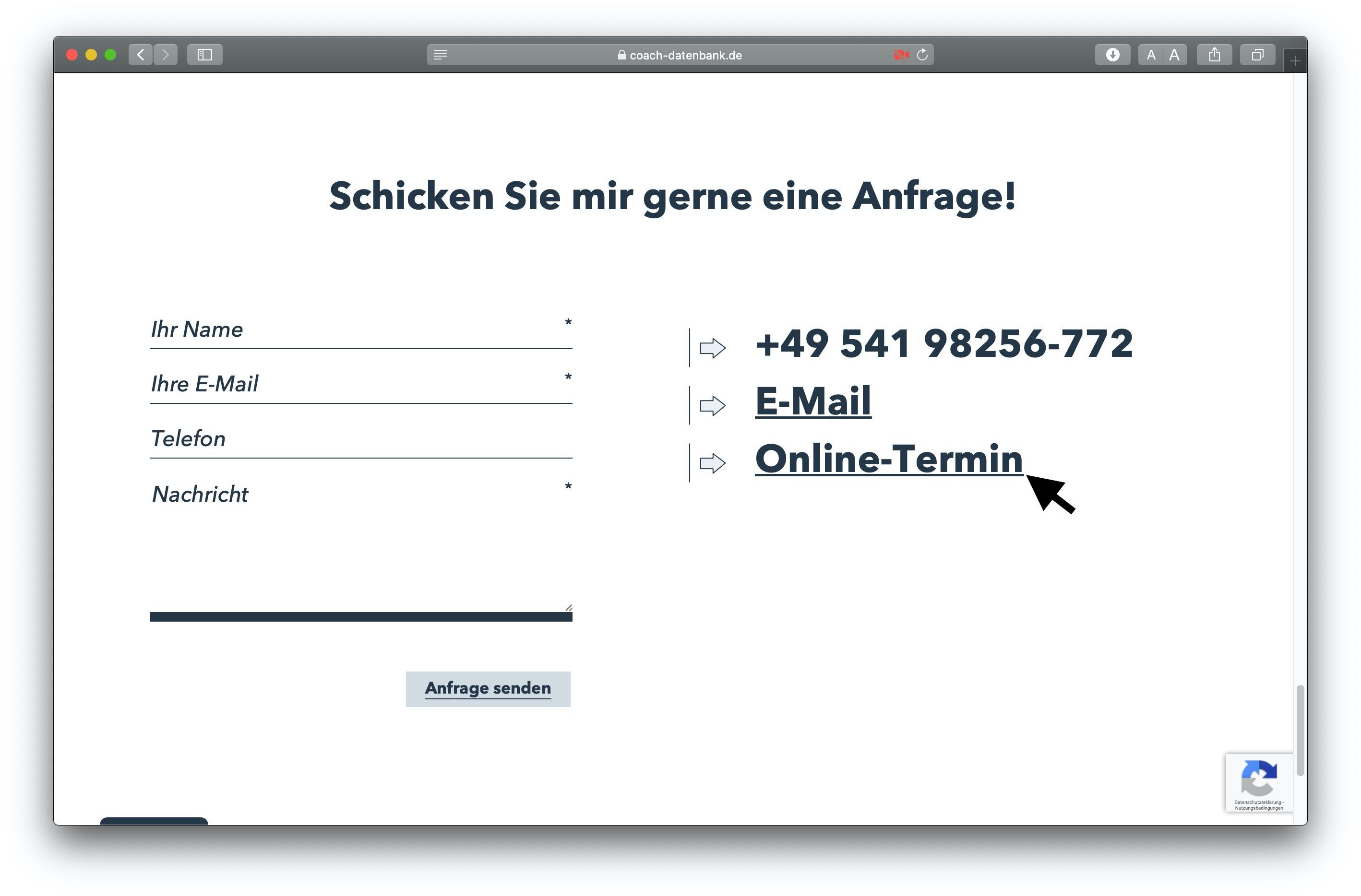 MeetFox scheduling on RAUEN Coach-Database