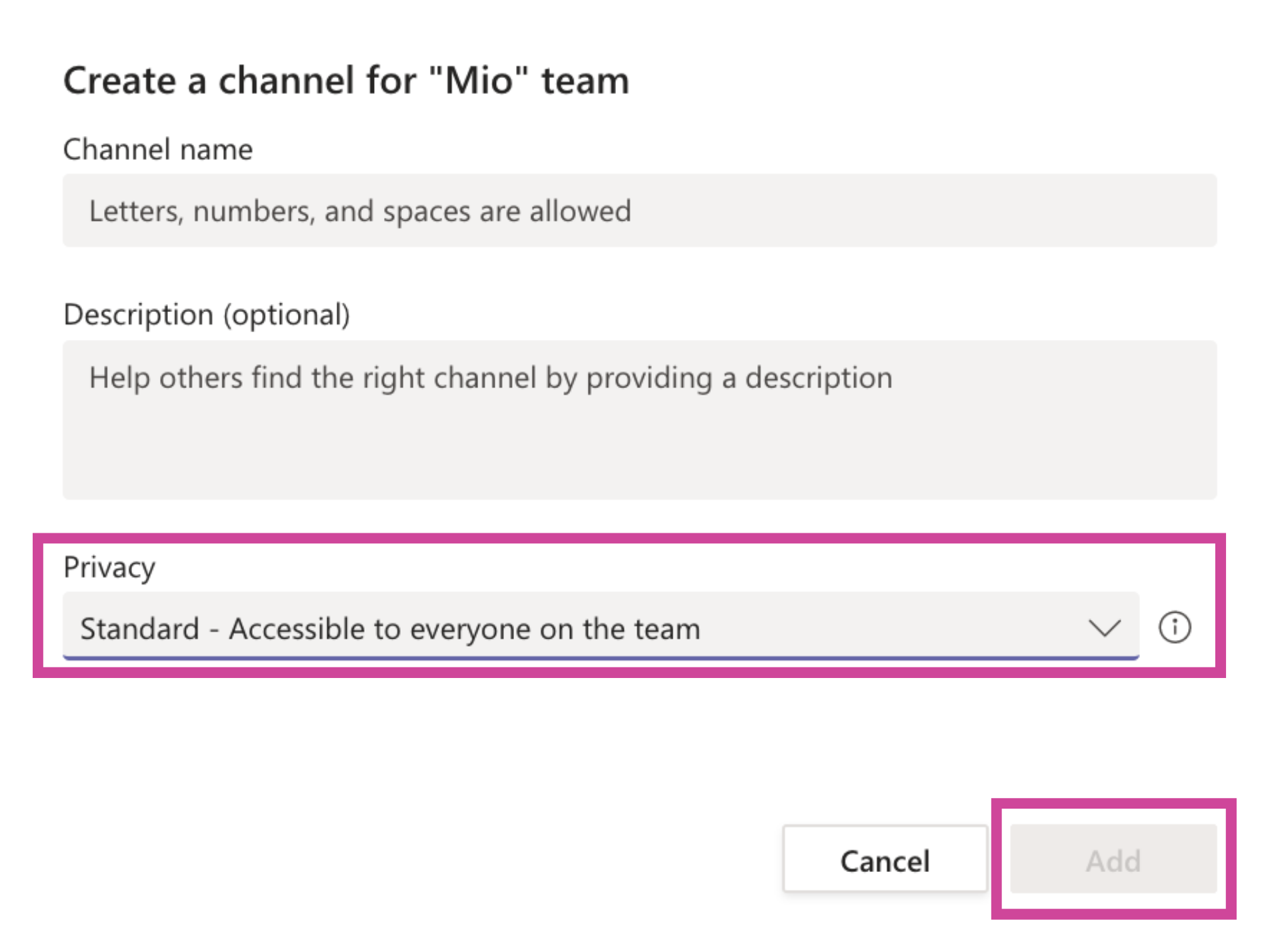 Private channels in Microsoft Teams