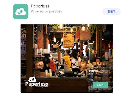 Paperless Login screen