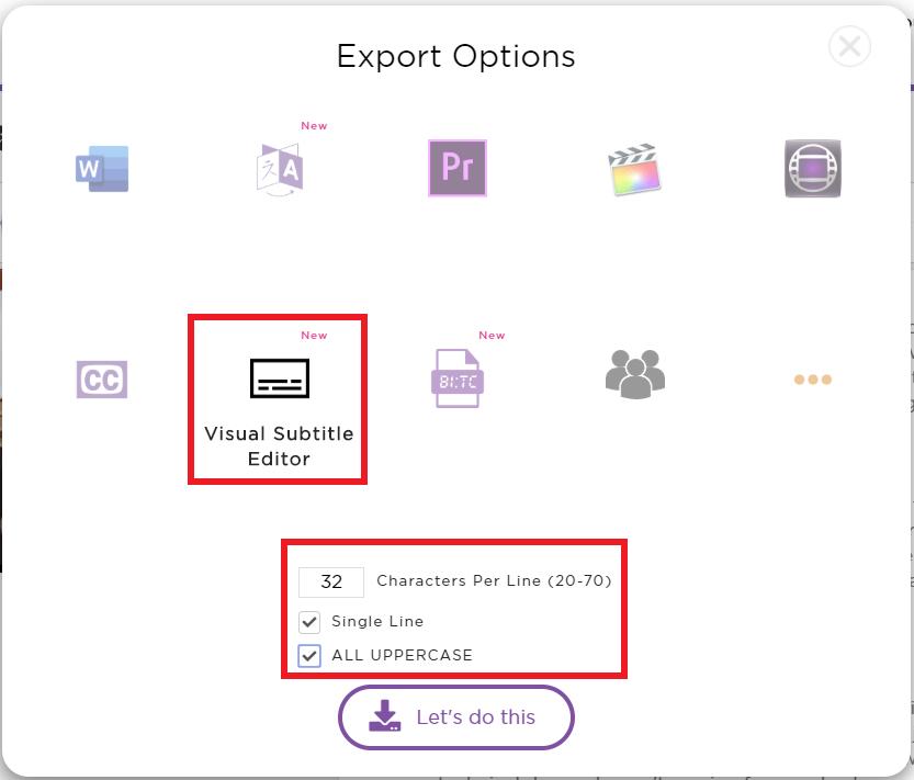 Select Visual Subtitle Editor