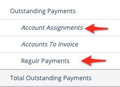 Regulr payments on the Sales Report