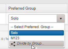 Dividing by group number makes it easier to see work in each group