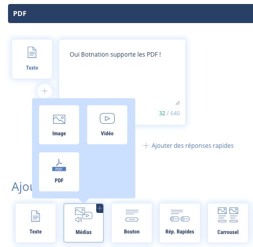 Importer un fichier PDF