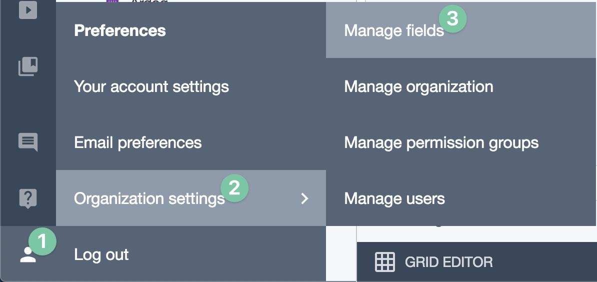 Ardoq manage fields