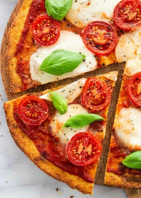 Cauliflower pizza crust, lower carb