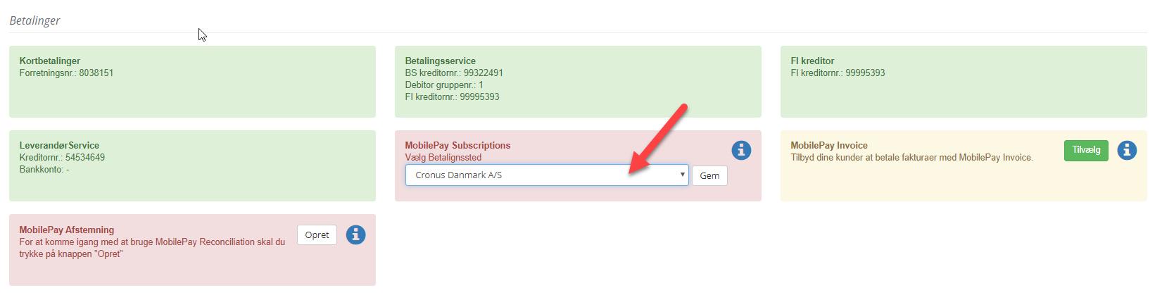 MobilePay Subscription - Flere betalingssteder