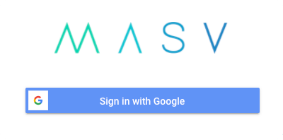 Sign in with google MASV