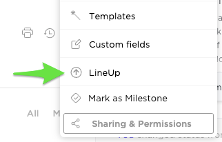 Image showing how to add tasks to your LineUp from the task's right click menu