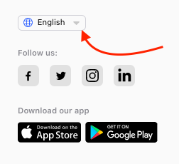 Change Language Web