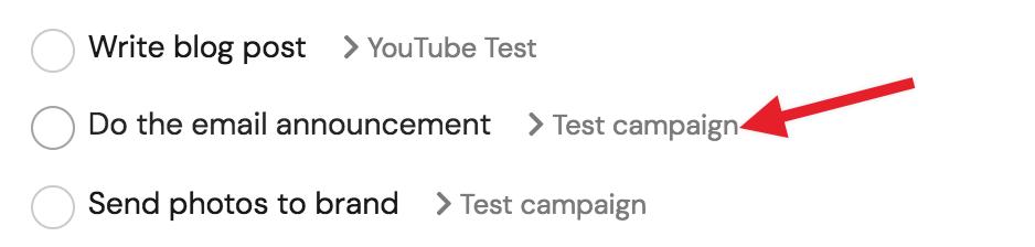 Task list example