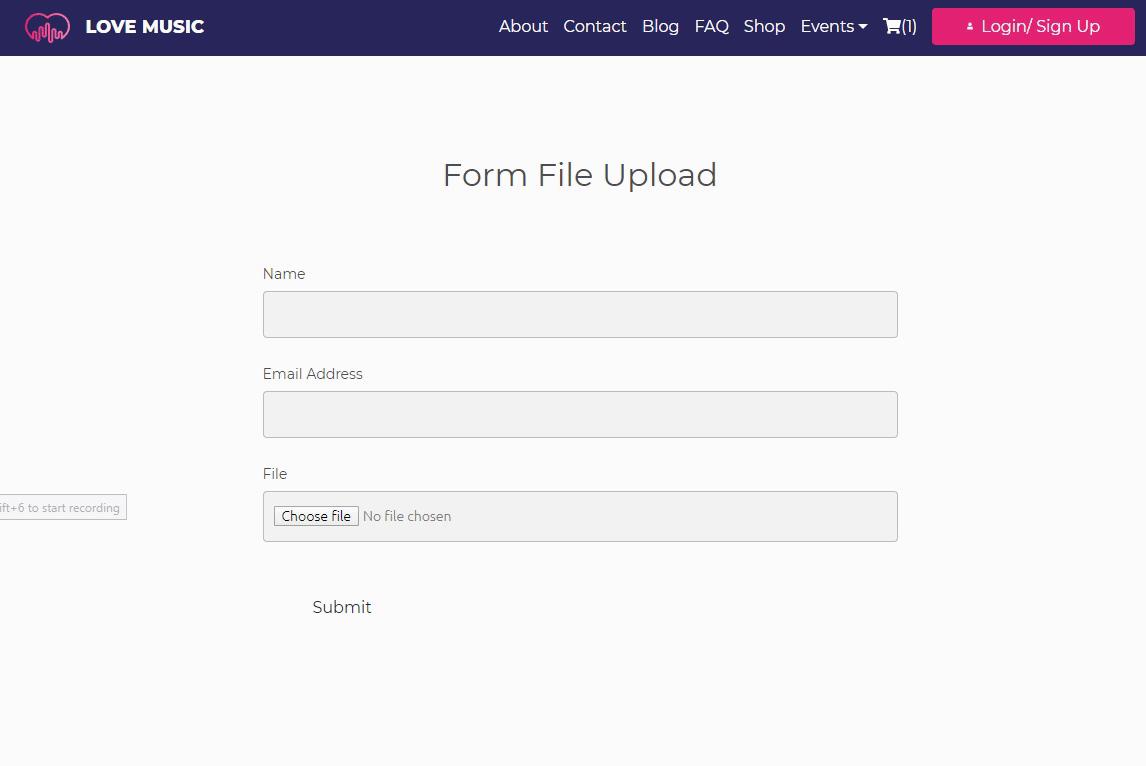 Form File Upload Demo