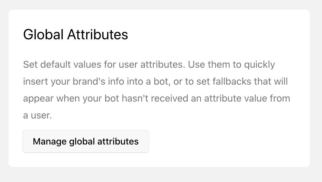 global attributes