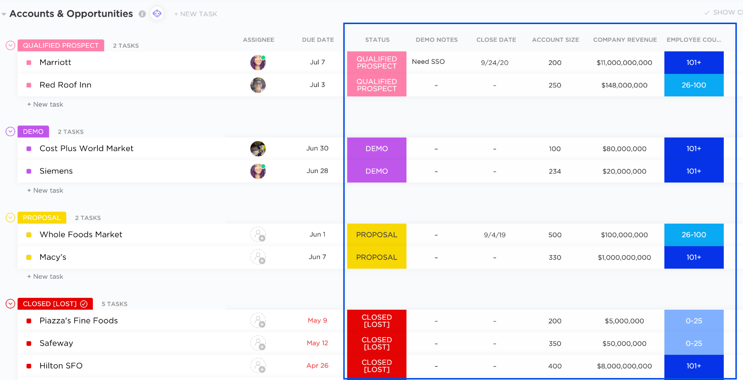 Showing how custom fields can customize your CRM.