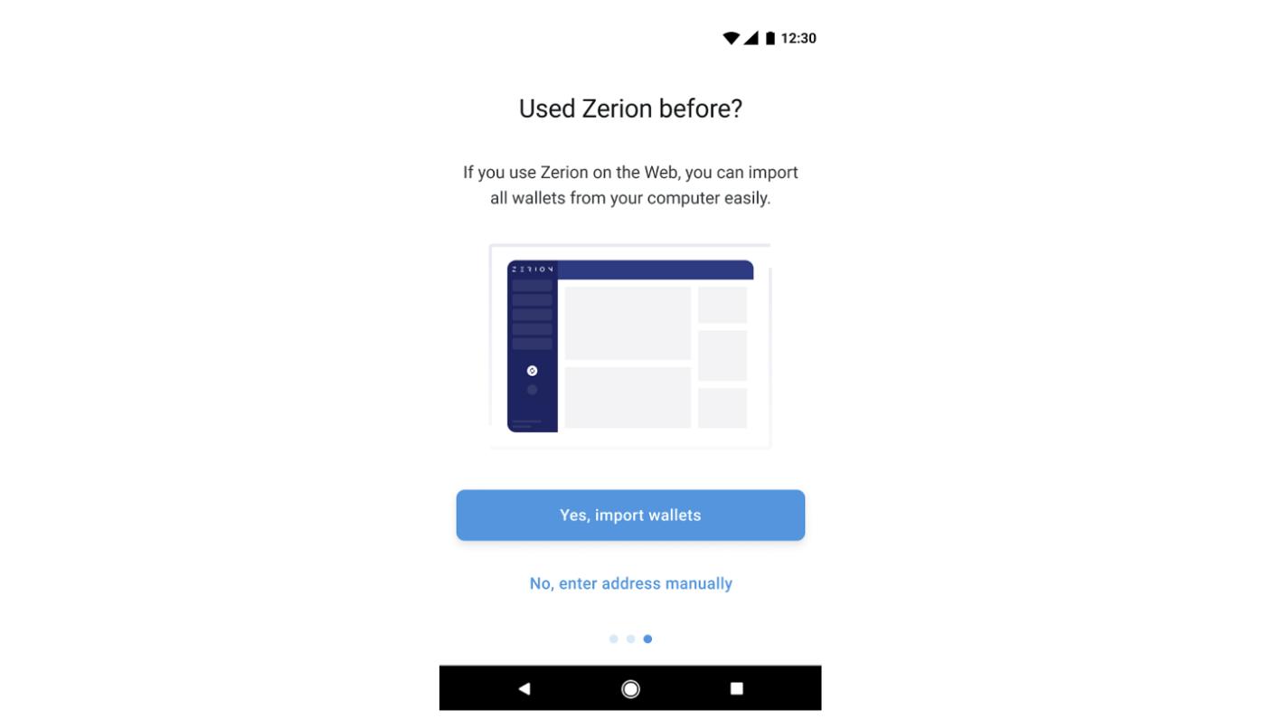 Zerion mobile app