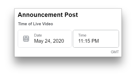 Set a time for your scheduled post