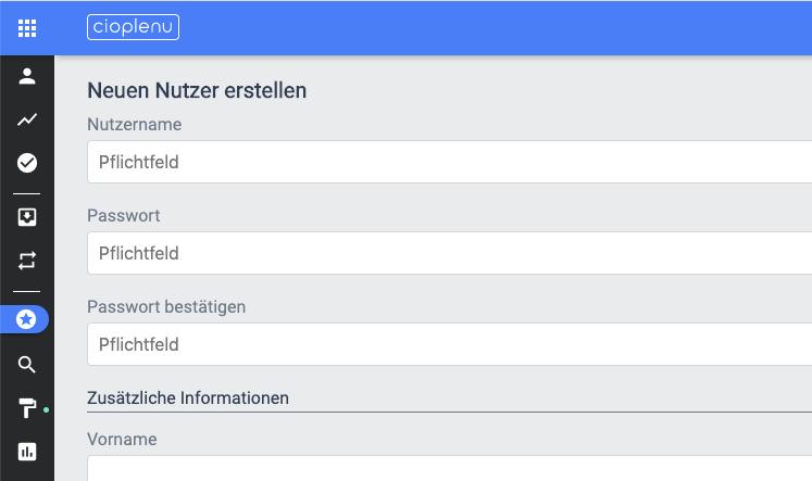 Nutzer erstellen - Relevante Datenfelder
