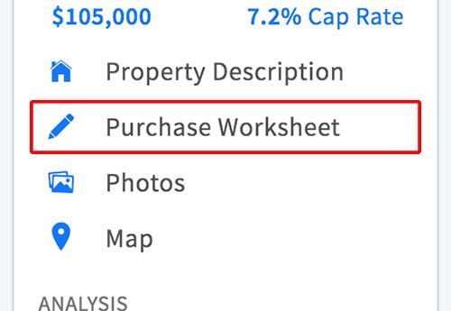 Purchase worksheet link in menu