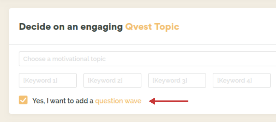 Checkbox that enables question waves