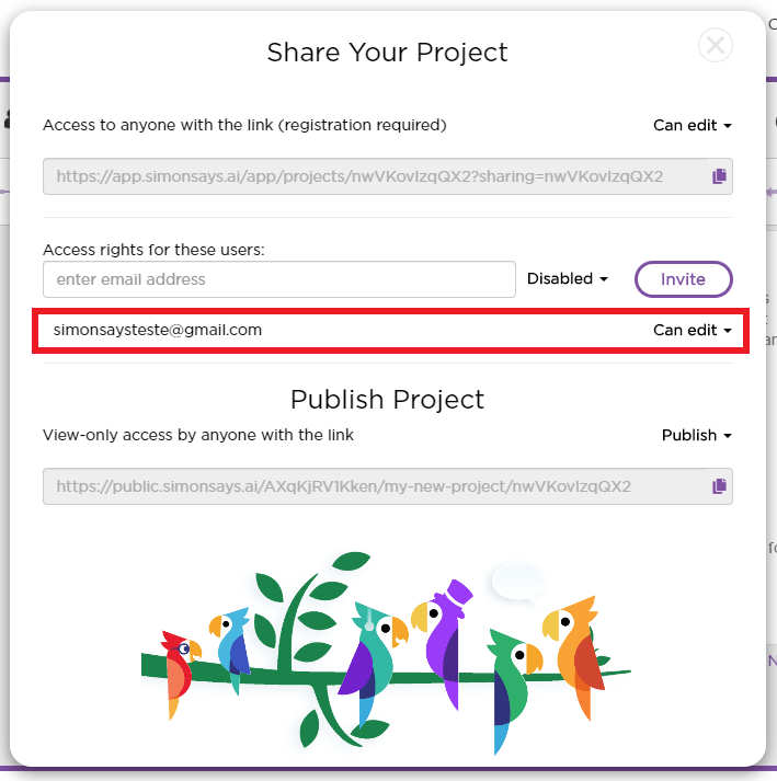 View who has accessed the project