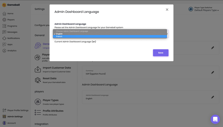Gameball-configure-language-settings-dashboard
